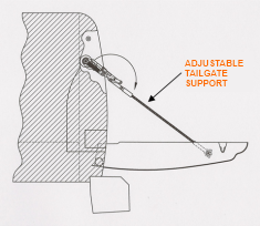 Adjustable Tailgate Cable Patent Image Close